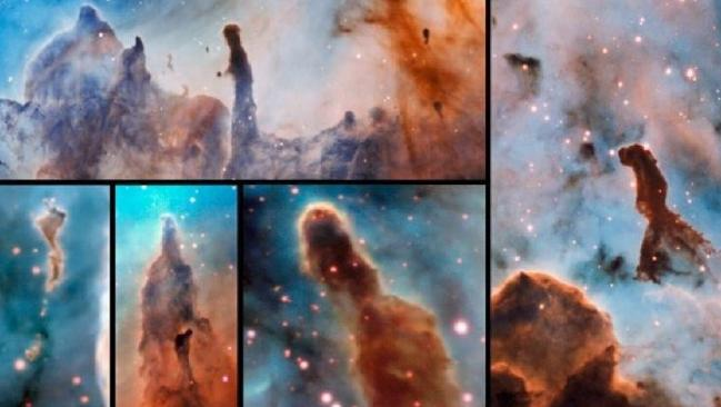 Carina Nebula pillars of destruction