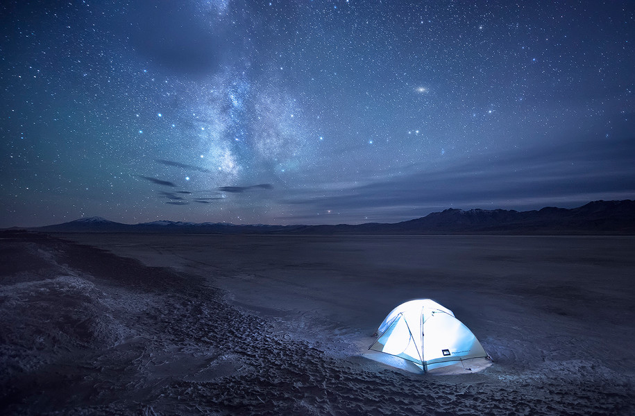 bizzare desert camping