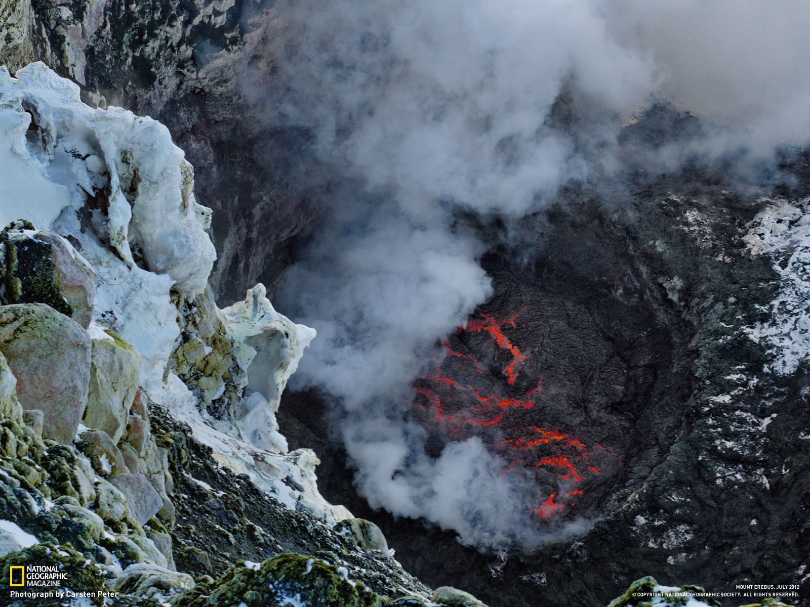 mount erebus volcanoes exposed lava lakes