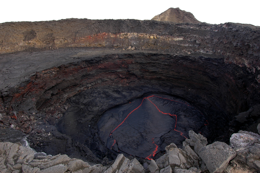 erta ale exposed lava lakes