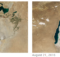 NASA's comparison of the Aral Sea in 2000 and in 2016.