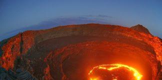 exposed lava